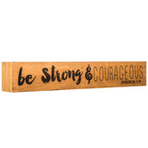 Joshua 1:9 Wood Wall Decor
